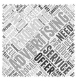 Advertising Are You Wasting Your Money Word Cloud vector image vector image