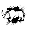 angry rhino ready to fight cartoon graphic vector image vector image