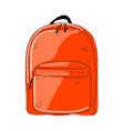 backpack mockup sketch for your design vector image