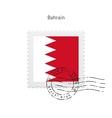 bahrain flag postage stamp