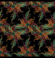 baroque embroidery seamless pattern vector image vector image