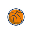 Basketball Ball Isolated Retro vector image