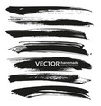 black big long brush strokes set isolated on a vector image vector image