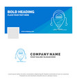 blue business logo template for android beta vector image