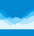 blue sky with clouds cartoon background bright vector image vector image