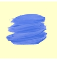 Blue stroke of paint vector image vector image