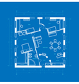 blueprint of apartment vector image vector image