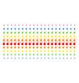 bomb shape halftone spectrum grid vector image vector image