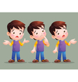 Boy have question vector image vector image