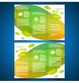 brochure design bio eco green leaf nature vector image vector image