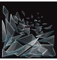 Broken glass pieces flow vector image