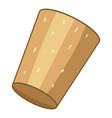brown cork plug icon cartoon style vector image vector image