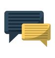 bubble speech message discussion vector image