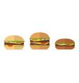 burger bread icons menu design elements vector image vector image