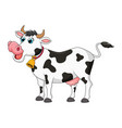 cartoon female cow cute design isolated on white vector image