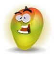cartoon funny mango character vector image vector image