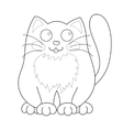 Cartoon smiling gentle kitty sit coloring book vector image vector image