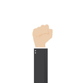 catoon hand of businessman stranglehold vector image