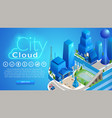city cloud horizontal banner with copy space vector image vector image