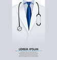 close up of a doctors lab bathrobe vector image vector image