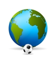 Concept soccer background vector image vector image