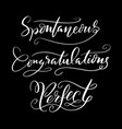 congratulations and perfect typography vector image vector image
