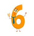 Cute and funny colorful 6 number characters vector image vector image