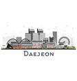 daejeon south korea city skyline with color vector image vector image
