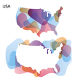 Design Map of USA background vector image