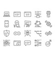 developer icon set vector image vector image