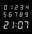 digital clock number set vector image