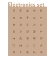 domestic electronics icon set vector image vector image