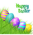 easter eggs on white background vector image