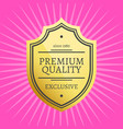 exclusive premium quality best golden label vector image vector image