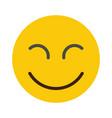 flat smile emodji isolated on white background vector image vector image