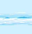 frozen arctic ocean landscape background vector image vector image