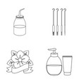 gel needles and other equipment tattoo set vector image vector image