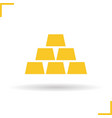 Gold bars icon vector image vector image
