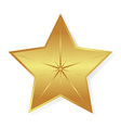 Gold star isolated object vector image vector image