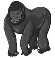 Gorilla with happy face vector image vector image