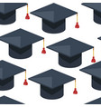 graduation hat with tassel alumni cap seamless vector image