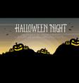 halloween night with pumpkin background vector image vector image