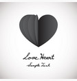 heart love flat design icon vector image vector image