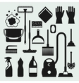 Housekeeping cleaning icons set Image can be used vector image vector image