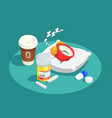 hypnotics drugs isometric composition vector image vector image
