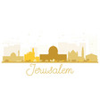 jerusalem city skyline golden silhouette vector image vector image
