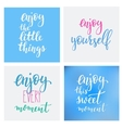 Lettering quotes motivation typography vector image