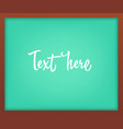 light green school chalkboard with frame vector image vector image