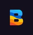 logo letter b colorful blue red orange vector image