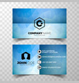 modern blue business card design template vector image vector image